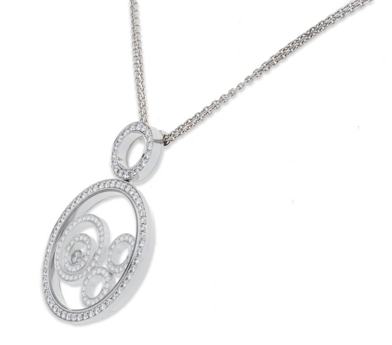 Chopard Happy Spirit Diamond Gold Pendant In Excellent Condition For Sale In Sunny Isles Beach, FL