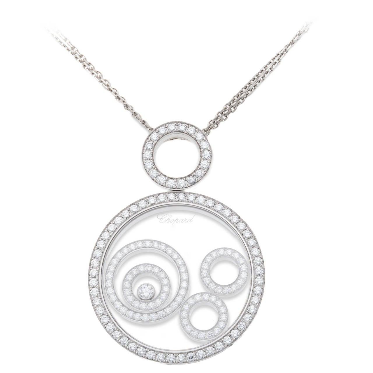 Chopard Happy Spirit Diamond Gold Pendant For Sale