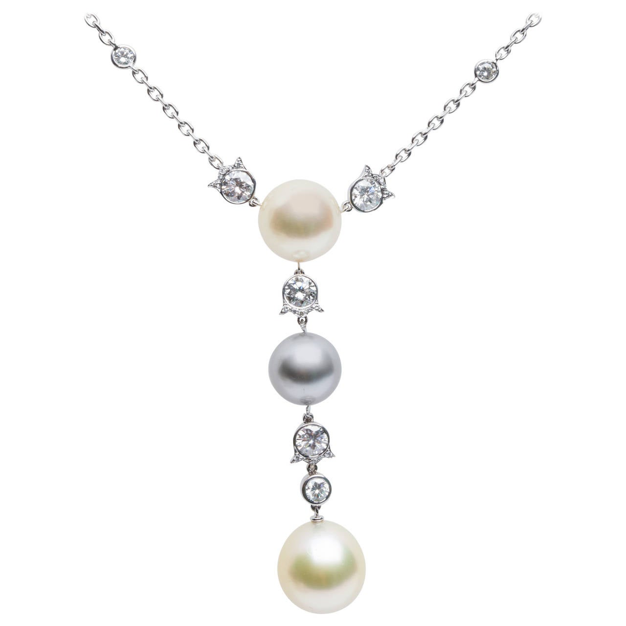 Cartier Himalia Pearl and Diamond Necklace