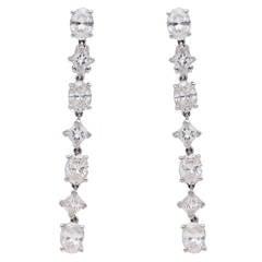 Cartier Classic Diamond Gold Platinum Drop Earrings