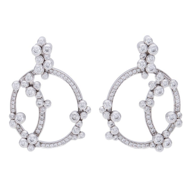 Audemars Piguet Jewellery Millenary Diamond White Gold Earrings 1