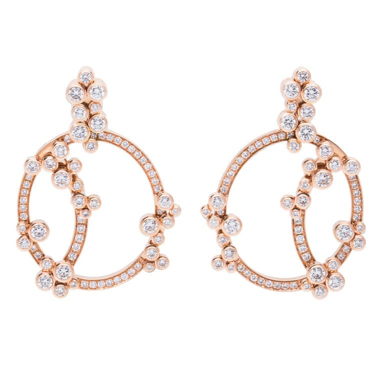 Audemars Piguet Jewelry Millenary Diamond Earrings For Sale