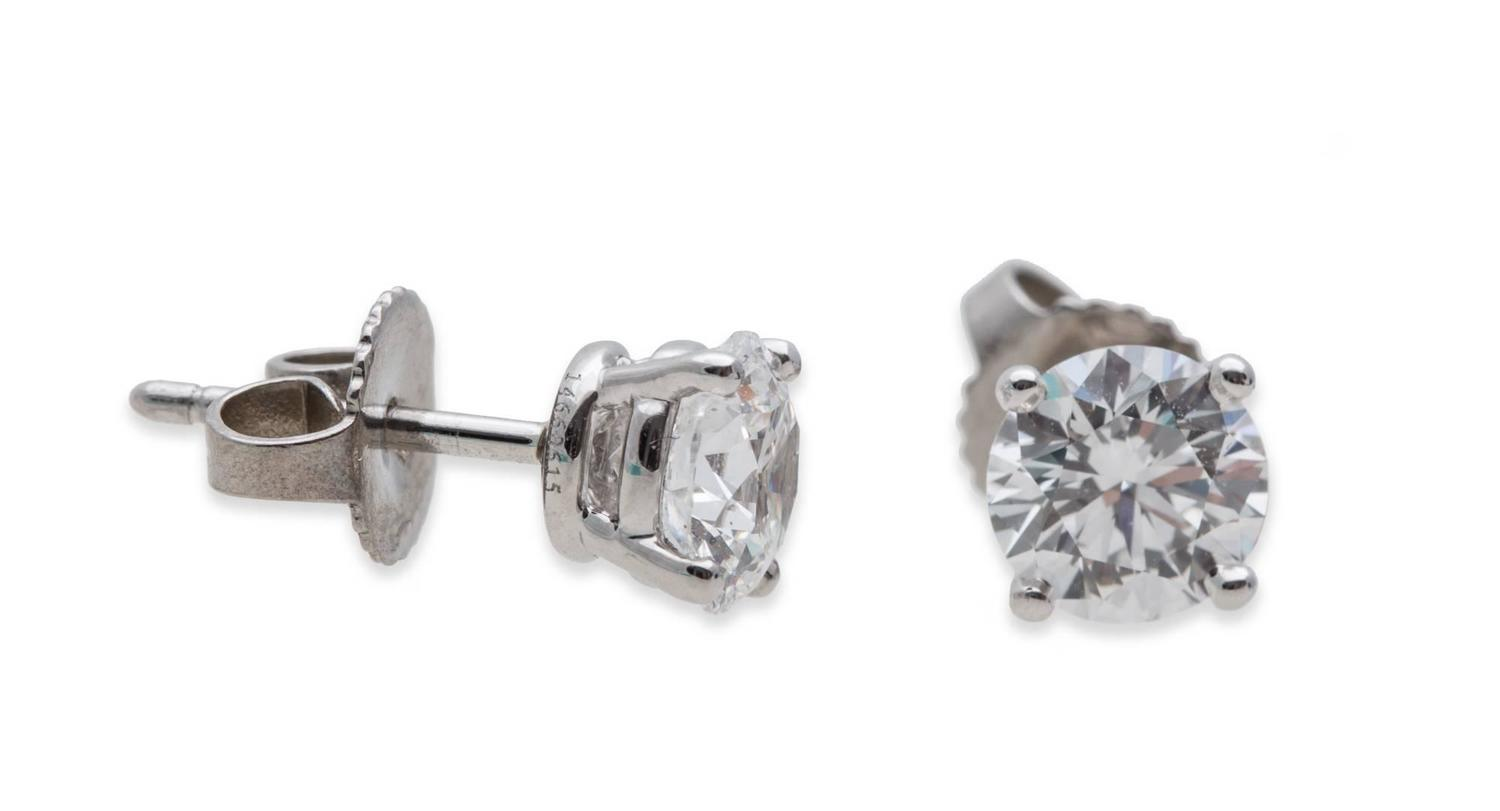 1 carat stud earrings sale and co 1 46 carat stud earrings for sale 7518