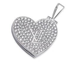 Louis Vuitton Diamond Gold Heart Locket