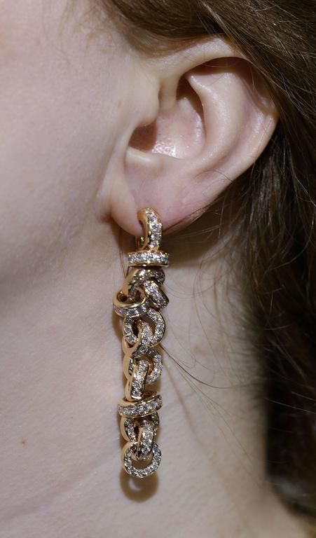 de Grisogono Diamond Rose Gold Earrings 3