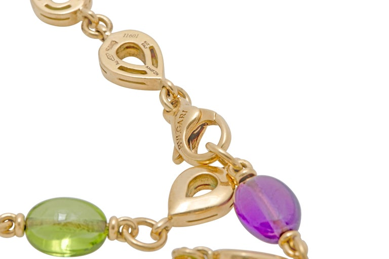 Women's Bulgari Bvlgari  Diamond and Color Stone Necklace Earring and Ring Set For Sale