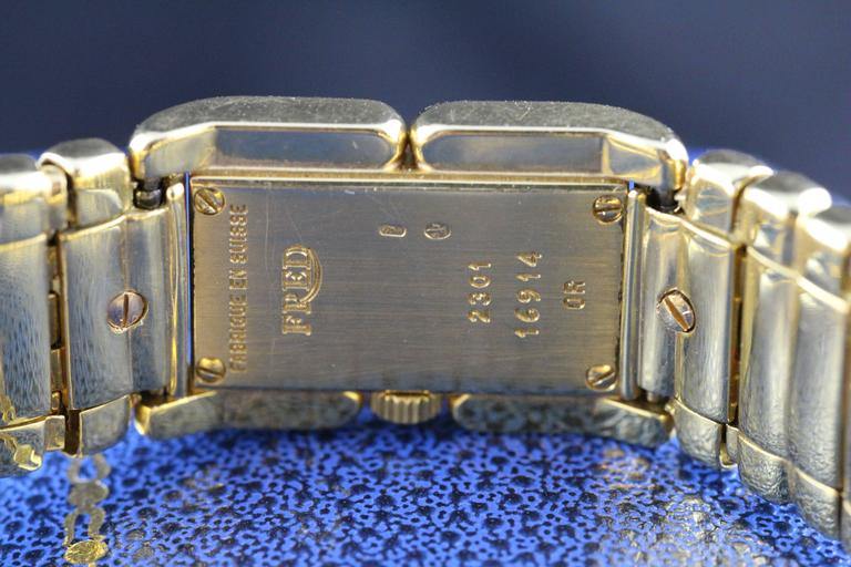 Fred Lady Wristwatch in Gold and Semi Precious Stones, circa 1990 7