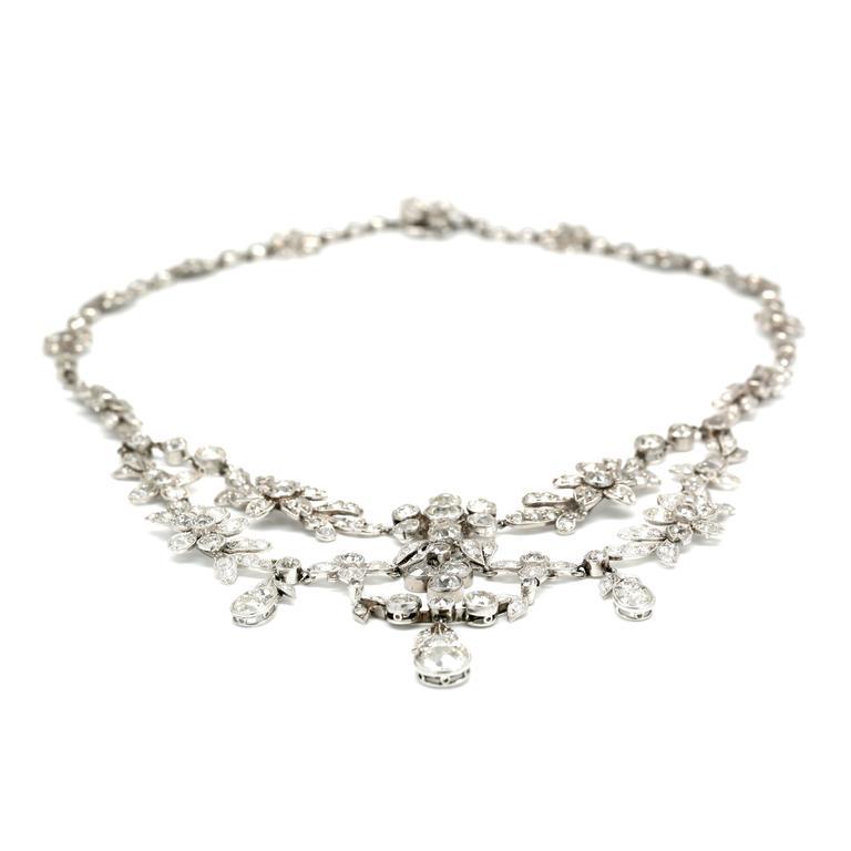 30.00 Carat Platinum Deco Necklace 2