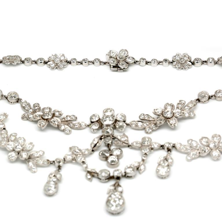 30.00 Carat Platinum Deco Necklace 4
