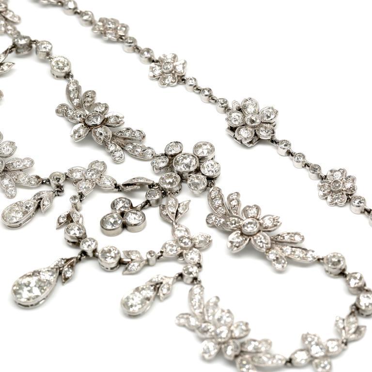 30.00 Carat Platinum Deco Necklace 5