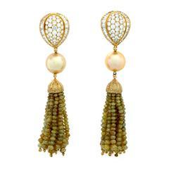 146.50 Carat Fancy Color Diamond Earrings