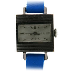 Hermes Stainless Steel Universal Geneve Wristwatch Circa 1950