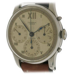 Universal Geneve Stainless Steel Chronograph Wristwatch