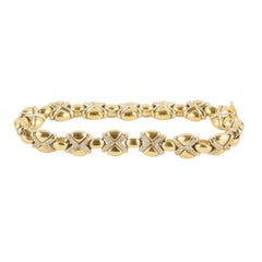 18 Karat Gold Bracelet and Diamonds