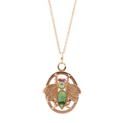 Antique Rose Gold Insect Locket