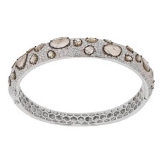 Sliced Diamond Bangle