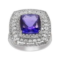 5.15 Carat Tanzanite Diamond Cocktail Ring