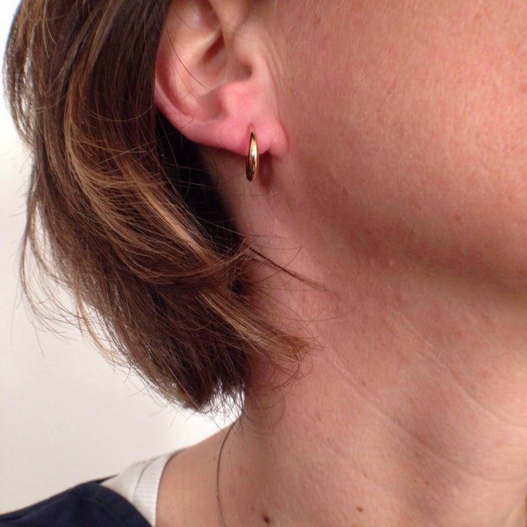 Chick White Diamond 18K Gold Pearl Drop Earrings For Sale 5