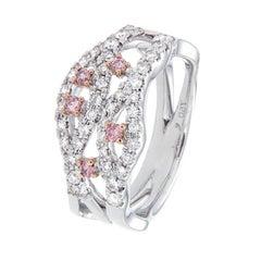 Pink Argyle Diamonds Dress Ring