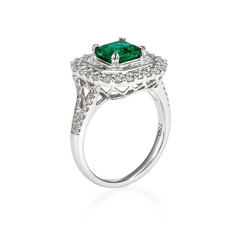 2 40 carat emerald and diamonds dress ring for sale at 1stdibs