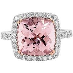 5.27ct Morganite and Diamond Cocktail Ring