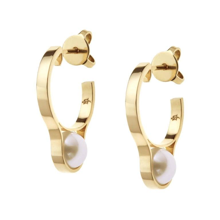 Nathalie Jean Gold Pearl Earrings