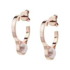 Nathalie Jean Gold Pearl Earrings
