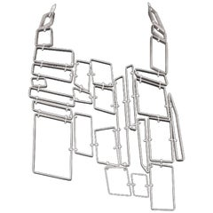 Nathalie Jean Sterling Silver Limited Edition Link Drop Necklace