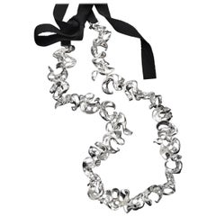 Nathalie Jean Contemporary Sterling Silver Silk Link Chain Necklace