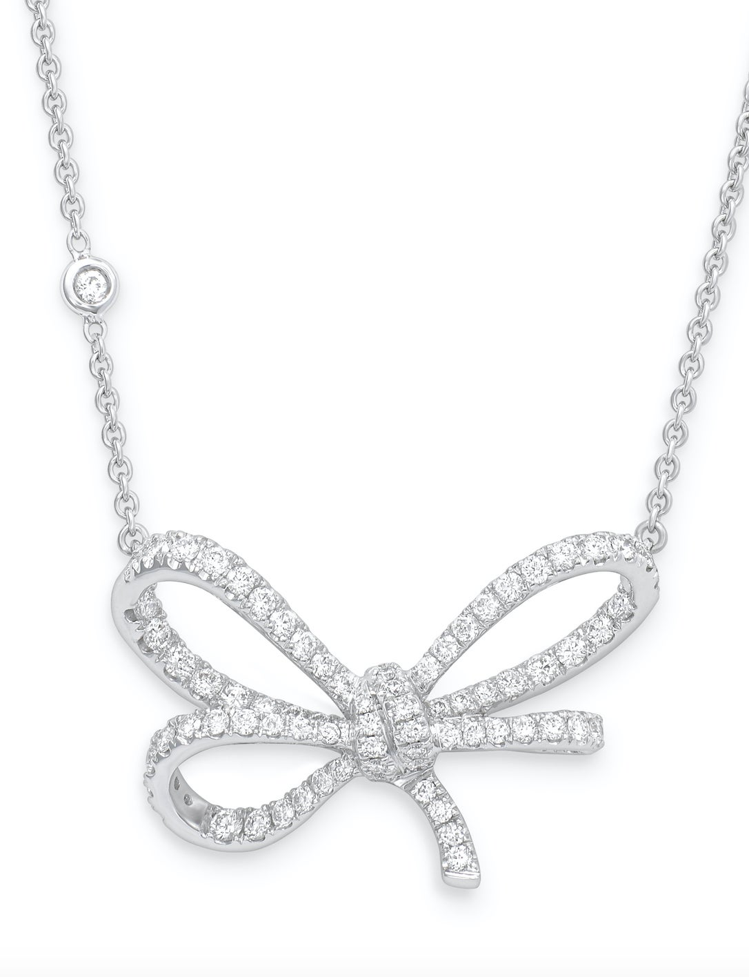 Vanleles diamond gold lylas bow pendant for sale at 1stdibs aloadofball Images
