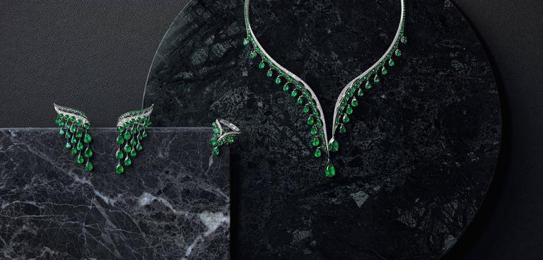 Vanleles Diamond Gemfield Emerald Legends of Africa Necklace 3