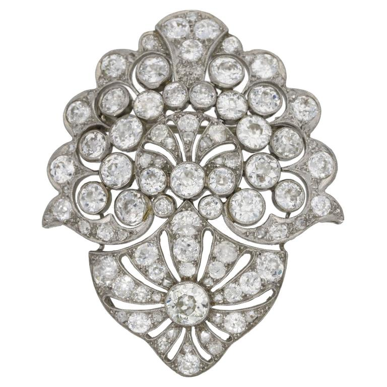 1930s Diamond Set Brooch