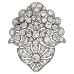 Antique Platinum Diamond Brooch