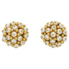 1950s Tiffany & Co. Pearl Cluster Ear Clips
