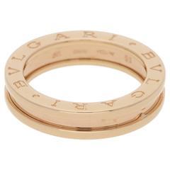 Bvlgari 18 Karat Rose Gold B.Zero1 Ring