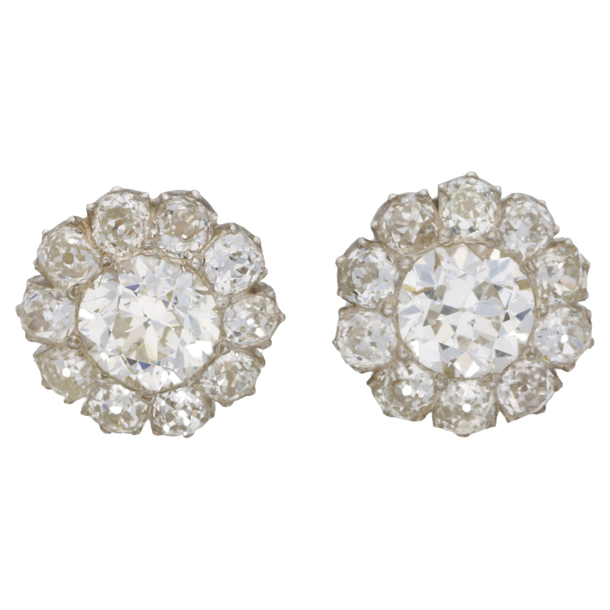 earrings views antique carat more stud gold diamond white total