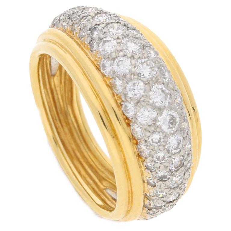 1980s Tiffany & Co. Diamond Ring in Gold