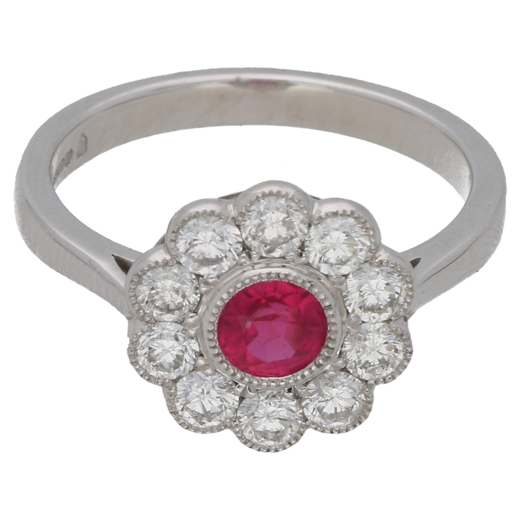 and micheleco ruby ring jewelry rings engagement product diamond fine