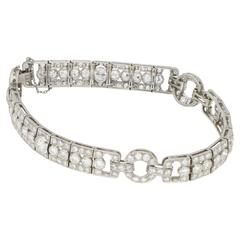 Platinum and Diamond Art Deco Bracelet