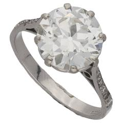 2.78 Carat Single Stone Edwardian Diamond Engagement Ring