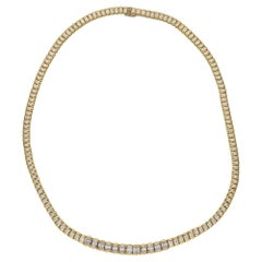 8.5 Carat Diamond Riviere Necklace in Gold
