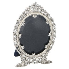 Silver Ornate Art Nouveau Style Photo Frame