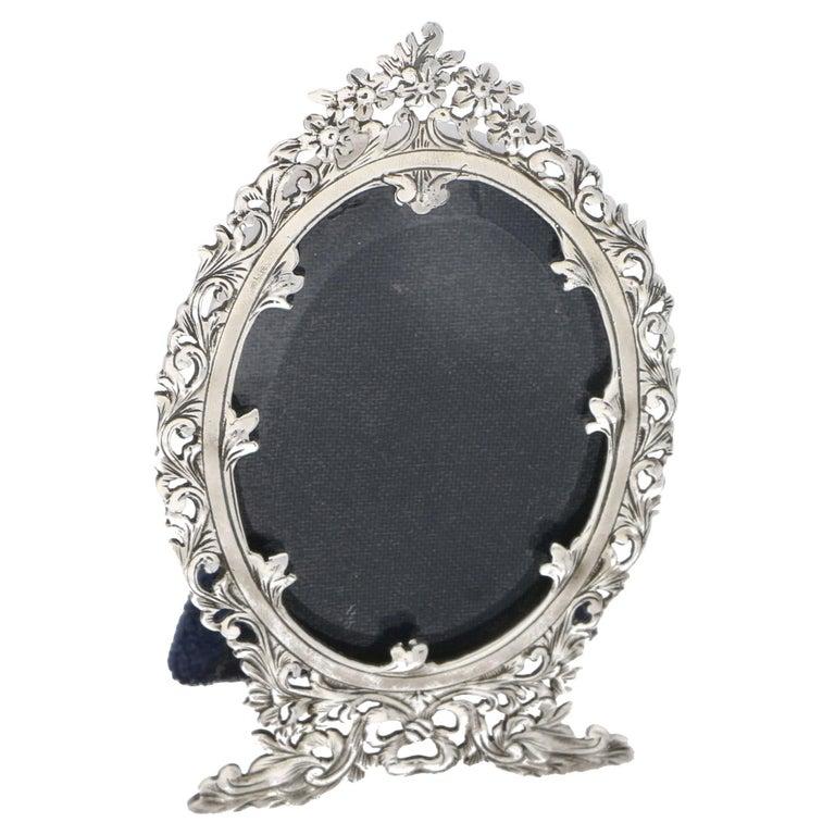 Silver Ornate Art Nouveau Style Photo Frame