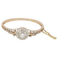 Victorian Diamond Cluster Pendant Bangle