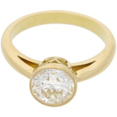 1.72 Carat Gold Single Stone Diamond Engagement Ring