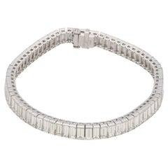 Baguette Cut Diamond Platinum Bracelet