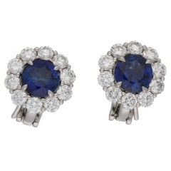 4faab966d36 6 Carat Victorian Diamond Cluster Stud Earrings For Sale at 1stdibs