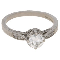 0.55 Carat Diamond Platinum Engagement Ring