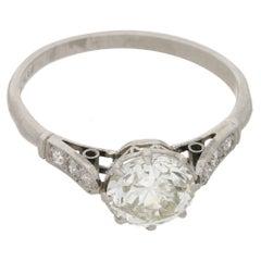 1.25 Carat Old European Cut Edwardian Diamond Engagement Ring
