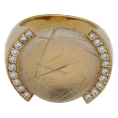 Cartier Rutilated Quartz Diamond Gold Ring